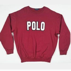 Ralph Lauren Polo Spellout 90s Crewneck Sweatshirt